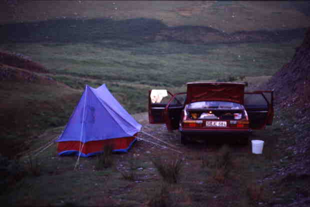 Tent and Car in Wales