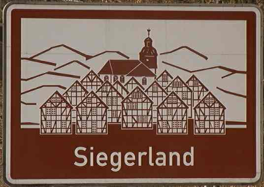 Siegerland: picture of a sign on autobahn A45